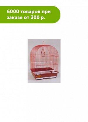 Клетка для птиц Золотая клетка полукруглая крыша 35*28*43cм, эмаль