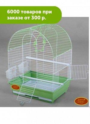 Клетка для птиц Золотая клетка 2 двери, крыша полукруглая 35*28*43cм эмаль