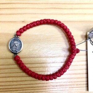 Красный детский комбоскини с СЕРЕБРЯНЫМ медальоном (Семистрельная), Афон