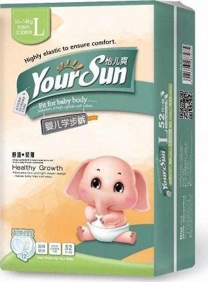 YourSun подгузники-трусики L (10-14 кг), 52 шт