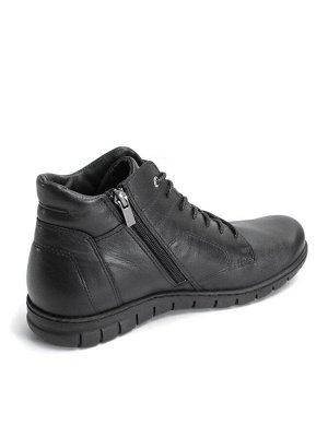 Ботинки демисезонные женские, черная кожа