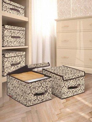 VAL CL-BOX-LM Короб стеллажный с крышкой, большой, 30*40*25 см, CLASSIC
