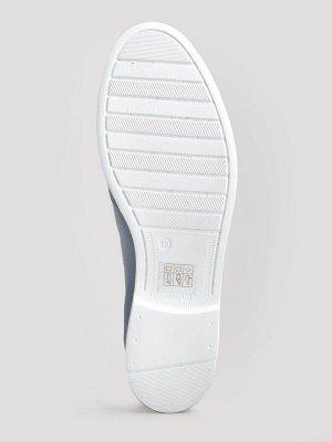 Туфли летние женские, голубая кожа