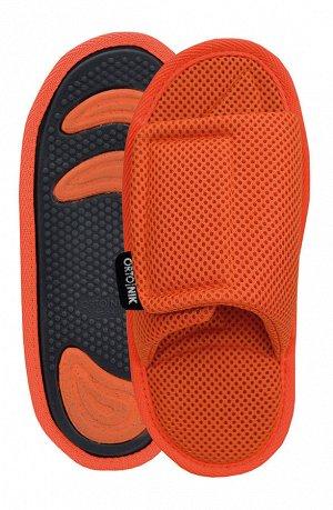 Тапки анатомические с массажным эффектом (с липучкой) оранжевый