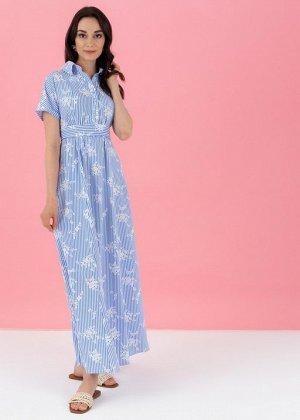 """Платье """"Аламанни"""" для беременных и кормящих; голубой"""