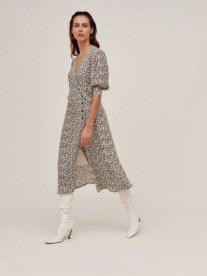 ANTIGA Платье Черно-белое