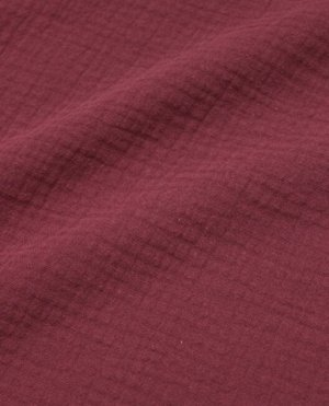 Муслин двухслойный с эффектом жатости, цв.Вишнево-бордовый, ш.1.38м, хл.-100%, 110гр/м.кв