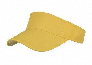 Унисекс козырек от солнца, однотонный, цвет желтый