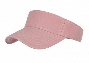 Унисекс козырек от солнца, однотонный, цвет светло-розовый