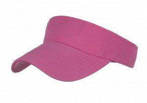 Унисекс козырек от солнца, однотонный, цвет розовый