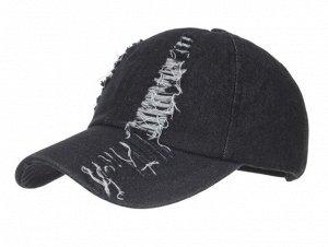Женская кепка, цвет черный джинс