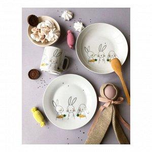 Набор посуды Bunny (3 в 1: кружка+тарелка+глуб. тарелка)