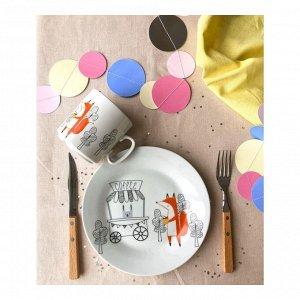 Набор посуды Кофейня (2 в 1: кружка+тарелка)
