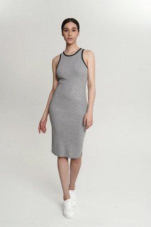 Платье:жен. МОДЕЛЬ 9. Стальной/черный