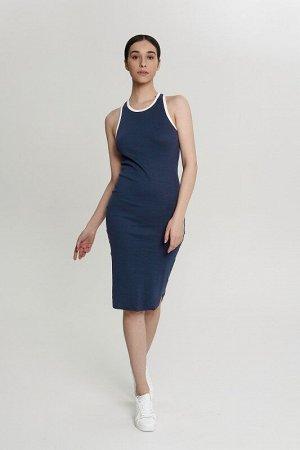Платье:жен. МОДЕЛЬ 9. Синий/экрю
