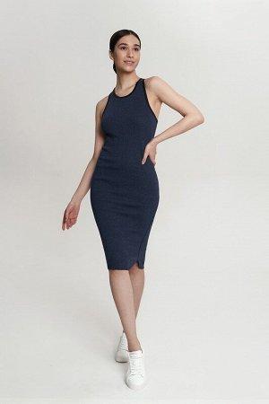 Платье:жен. МОДЕЛЬ 9. Индиго/Черный