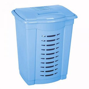 Корзина для белья пластмассовая 50л, 44х36х56см, голубой (Ро