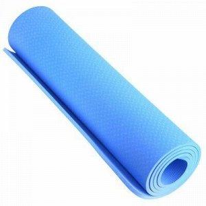 """Коврик для йоги 61х183см 8мм ПВХ """"Тиснение"""" голубой (Китай)"""