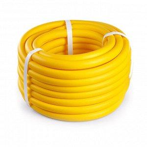 """Шланг для полива ПВХ """"Банан"""" 20м, внутренний д16мм, толщина стенки 3мм, желтый матовый (Россия)"""