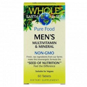 Natural Factors, Пищевая добавка Whole Earth & Sea, мультивитаминный и минеральный комплекс для мужщин, 60 таблеток