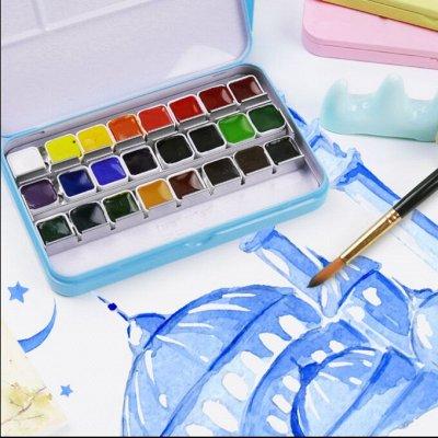Опять школа-Наличие! Ручки Пиши-стирай, Закладки и другое — Альбомы+ краски+корректоры