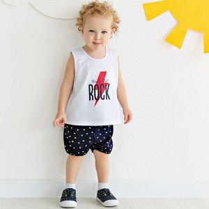 Комплект для мальчиков майка + шорты 'Солнышко' р.74-92