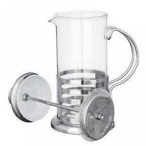 Кофейник Френч-пресс объемом 350мл в корпусе из нержавеющей стали, с фильтрующим поршнем из нержавеющей стали, подходит для заваривания кофе и чая. 4 дизайна.