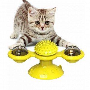 """Игрушка для кошек на присоске """"Спиннер"""""""