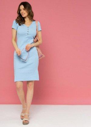 """Платье """"Алиса"""" для беременных и кормящих голубой"""