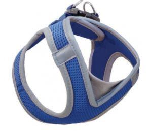 Шлейка-жилетка мягкая синяя р-р М (грудь 41-46см)