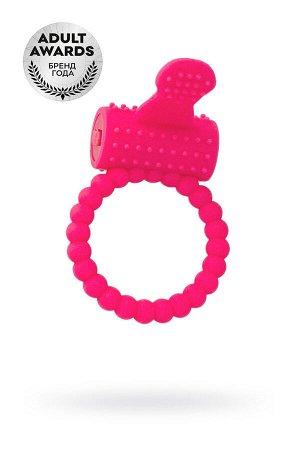 Эрекционное кольцо на пенис, силикон, розовый, ø3,5 см