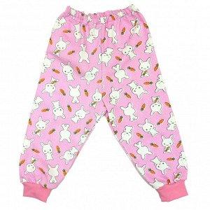 Ползунки - штанишки 520/44 (розовые с зайками)