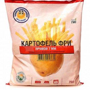 Картофель фри прямой, 7 мм, Планета Витаминов, 750 г