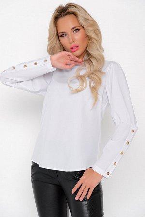 """Рубашка Ткань: """"Ниагара""""- (п/э-85, вискоза-8, эластан-7,) Модель рубашки """"Марина"""" достаточно сдерженная, но в то же время изысканная. Акцен модели - пуговицы на рукавах и по спинке изделия"""