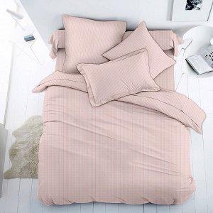 """""""Мицуба, розовый"""" Постельное белье, комплект 1,5 спальный, 4 предмета: пододеяльник 145х215см, простыня 150х215см, 2 наволочки 70х70см с клапаном-запахом, перкаль 112г/м2, хлопок 100%, """"Домашняя мода"""""""