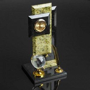Визитница «Стелла»: подставка для ручки, глобус, часы