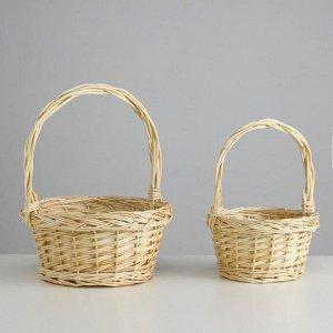 Набор корзин плетёных, ива, 2 шт., (цилиндр)