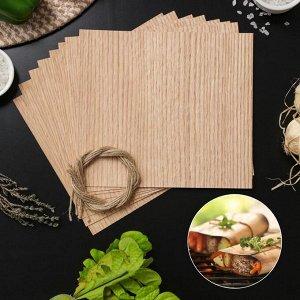 Гриль-бумага из древесины, 20?18 см, 8 шт/уп, дуб