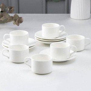 Сервиз чайный на 6 персон Wilmax England, чашка 160 мл, блюдце