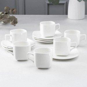 Сервиз чайный Wilmax England, 12 предметов: 6 чашек 200 мл, 6 блюдец
