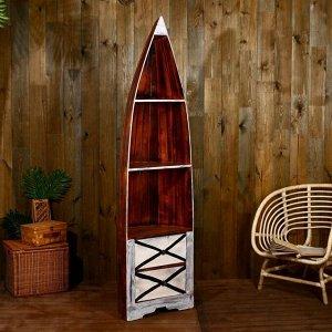 """Подставка под бутылки """"Лодка"""" 193х50х30 см, дерево албезия"""