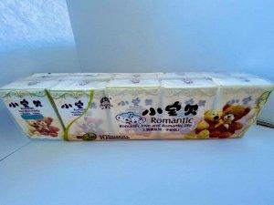 """Бумажные носовые платки """"Xiaobaobei"""" 3-х слойные, 7 шт"""