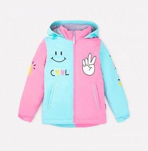 Куртка демисезонная утепленная для девочки Crockid ВК 32105/1 ГР