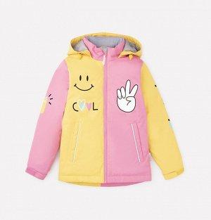 Куртка демисезонная утепленная для девочки Crockid ВК 32105/2 ГР