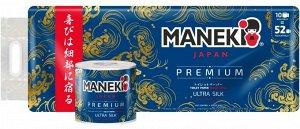 Maneki Бумага туалетная Ocean с ароматом океанского бриза 3 слоя 10 рулонов/1 упаковка