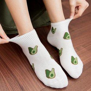 Женские носочки с фруктами