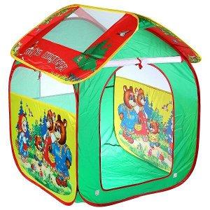 """GFA-3BEAR-R Палатка детская игровая """"Три медведя"""",  83х80х105см в сумке Играем вместе в кор.24шт"""