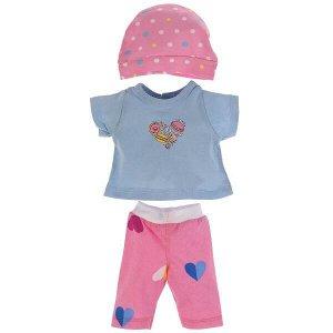 OTF-2101SH-RU Одежда для кукол 40-42см костюм  с шапкой капкейки КАРАПУЗ в кор.100шт