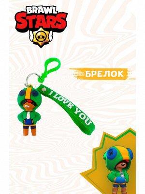 Зеленый Брелок Бравл Старс можно повесить на рюкзак, портфель. Фигурка брелок Браво Старс для ключей.