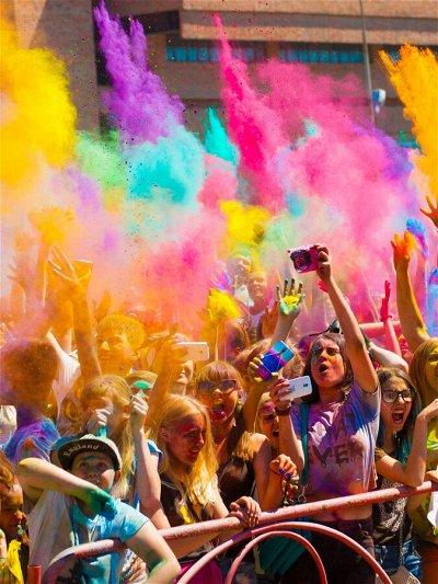 Краски Холи. Раскрасим летом в яркие цвета